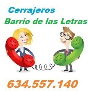 Telefono de la empresa cerrajeros Barrio de las Letras